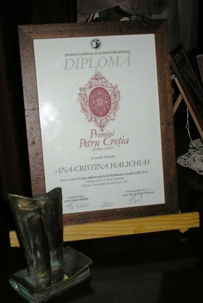 """Premiu MNLR pentru """"Latina diplomatică în Țările Române"""""""
