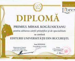 Editura Universităţii din Bucureşti a primit cea mai înaltă distincţie pentru carte ştiinţifică