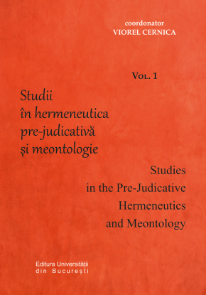 Studies in the Pre-Judicative Hermeneutics and Meontology, First Volume Book Cover