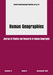 Coperta B5 Human Geographie 11 nov 2017 curbe