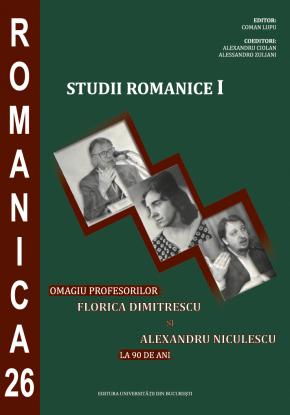 Copertă site Studii romanice I