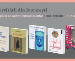 Lansări EUB la Târgul Gaudeamus online, secțiunea non-ficțiune